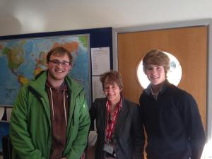 (left to right) Me , Elaine Wildig from Fareham Borough Council and Gregory Smith who is the current chair of the ISU